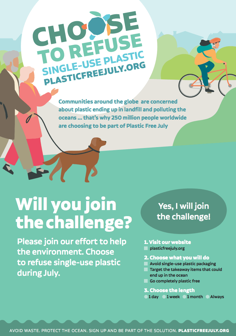 Pledge to Go Plastic Free This July Opens in new window