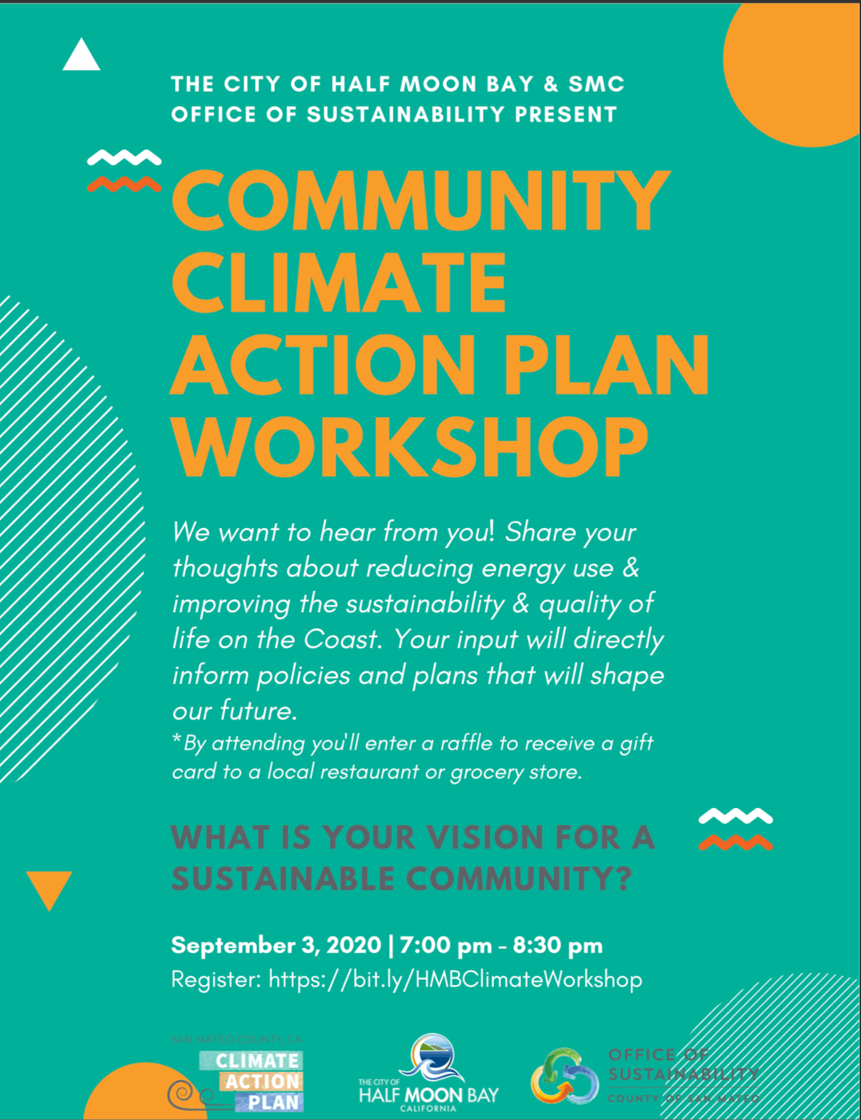 Climate Action Plan Workshop 9/3 at 7pm on Zoom